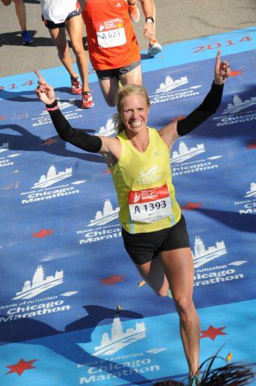 Rise Runner Amber Reber Chicago Marathon 2014